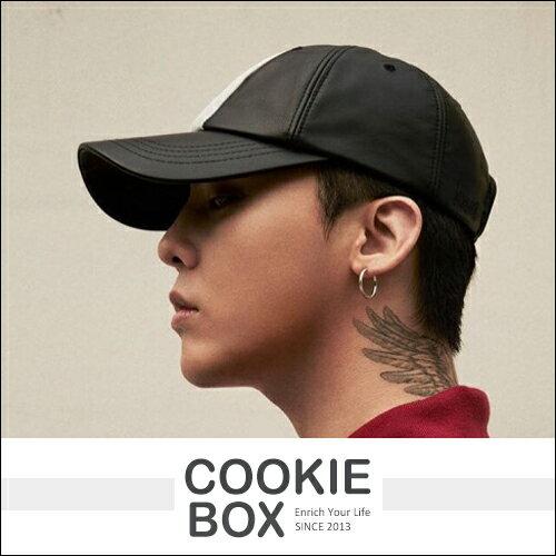 韓國 8SECONDS X G~DRAGON  聯名 中央白線 皮革帽 bigbang 權