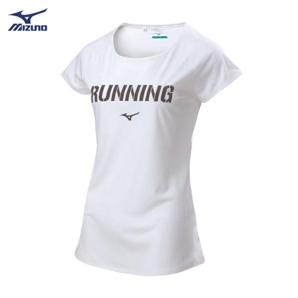J2TA821301(白)熱遮蔽材質女路跑短袖T恤【美津濃MIZUNO】
