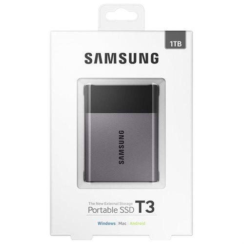 """Samsung T3 Portable 1TB SSD 1.0TB USB 3.1 External Solid State Drive MU-PT1T0B + 2.5"""" SSD case 1"""