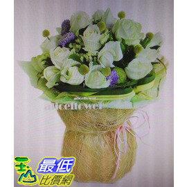 [COSCO代購]W117529台北愛麗絲花坊白色精靈白玫花束
