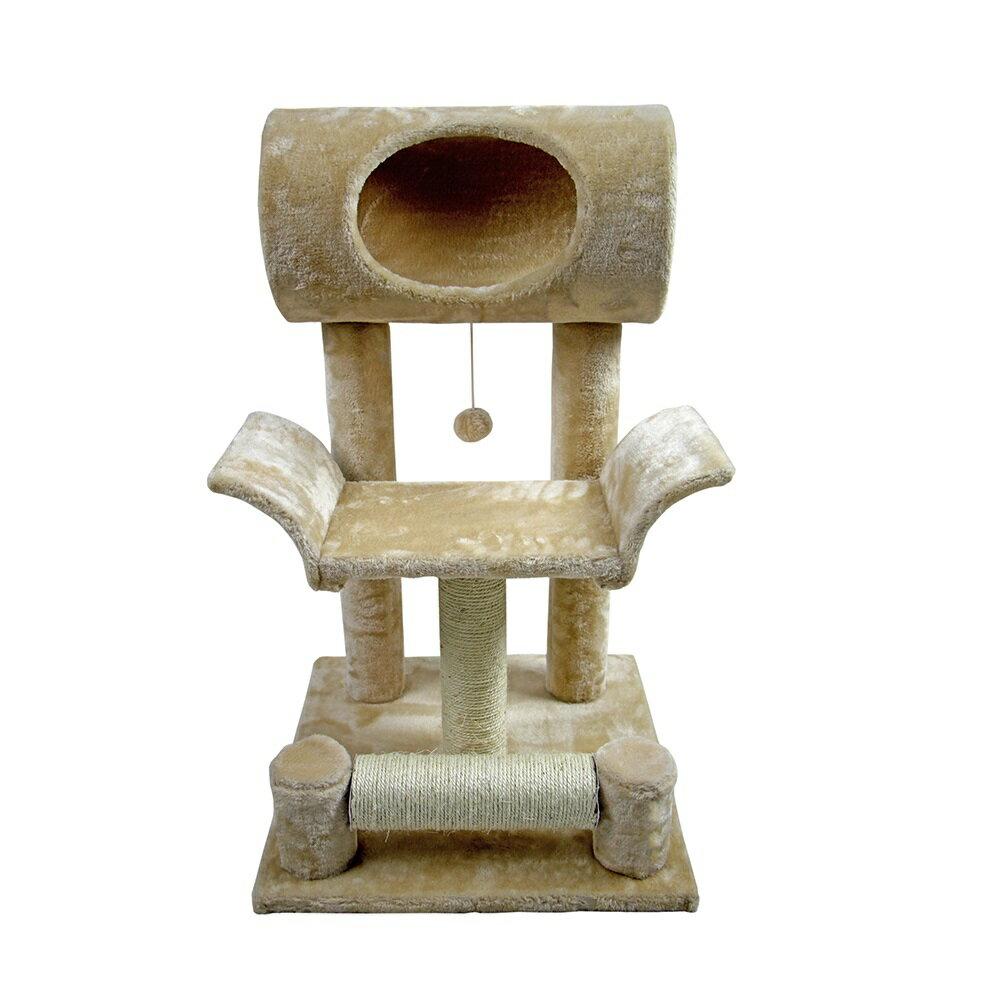QQ 觀景貓跳台-米色 (QQ80338-4) (I002G19-1) 1