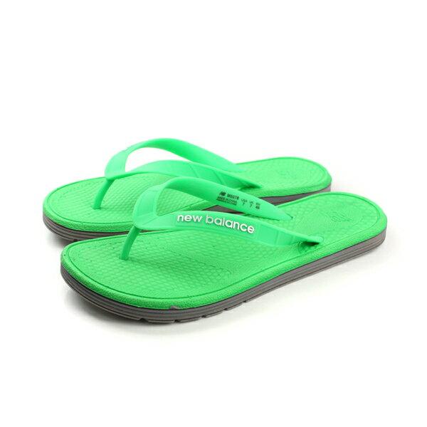 【全店點數40倍】NEW BALANCE 夾腳拖鞋 綠色 男鞋 no263