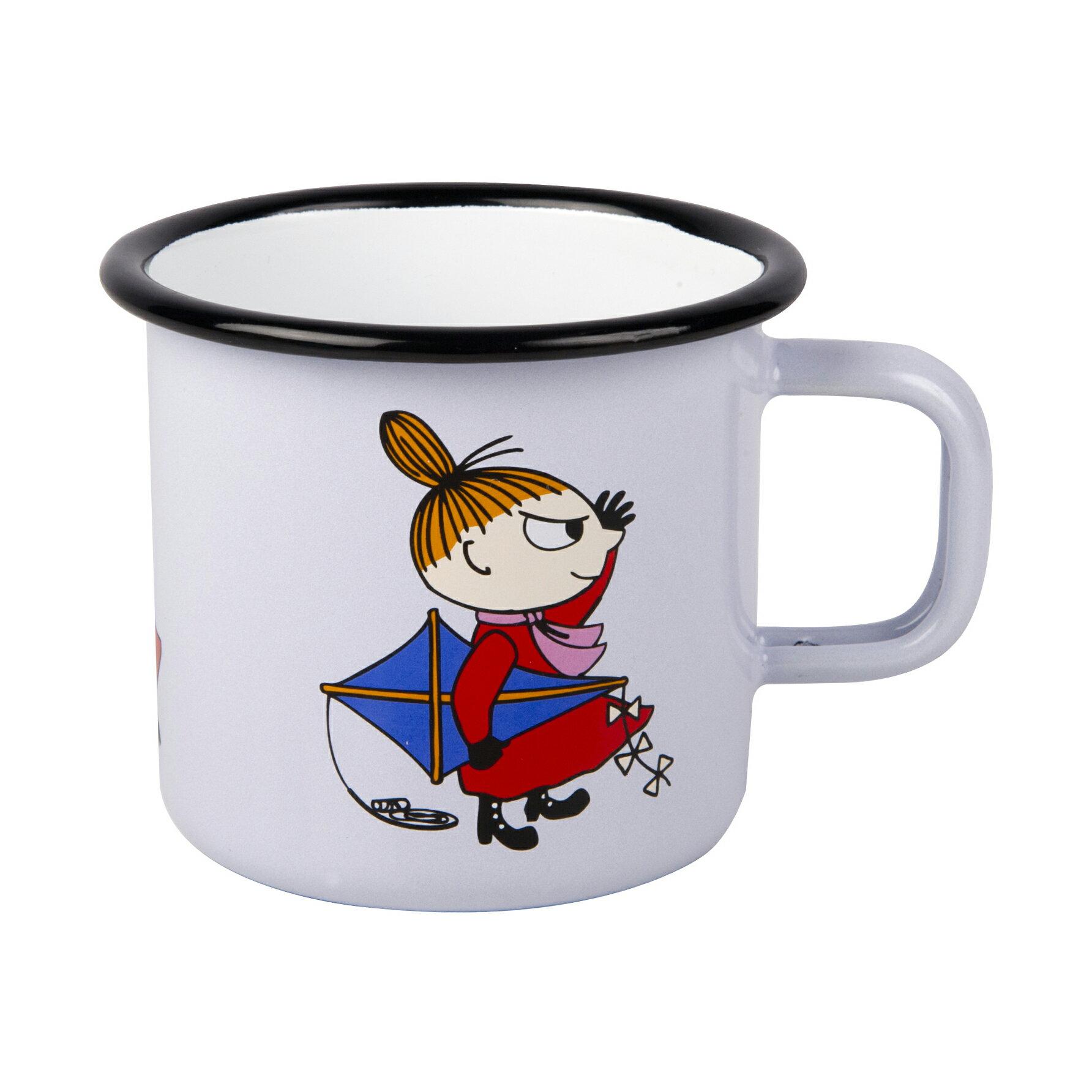 【芬蘭Muurla】嚕嚕米系列-小不點琺瑯馬克杯250cc 淡紫 咖啡杯  琺瑯杯