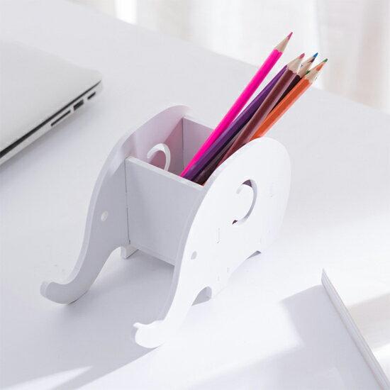 ♚MY COLOR♚可拆卸大象手機置物架 平板架 收納架 名片架 置物 筆筒 DIY 底座 創意【T39-3】