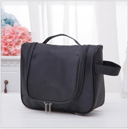新款韓版多功能旅行包洗漱包防水收納包手提便攜掛式化妝包-黑色