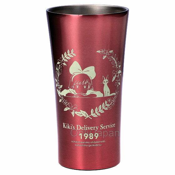 真空 不鏽鋼杯 400ml KIKI&JIJI 魔女宅急便 宮崎駿 吉卜力 水杯 杯 不銹鋼杯 保溫 保冷 茶杯 果汁杯 真愛日本
