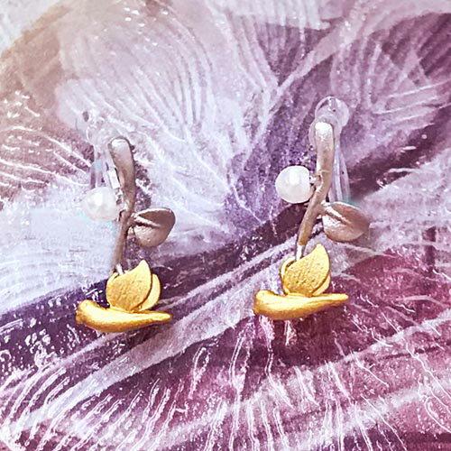 (預購+現貨)飛鴿畫際針式夾式耳環(矽膠夾)【2-18014】