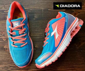 【剪標品出清-23號】義大利國寶鞋-DIADORA迪亞多納 女款亮彩輕量氣墊運動慢跑鞋