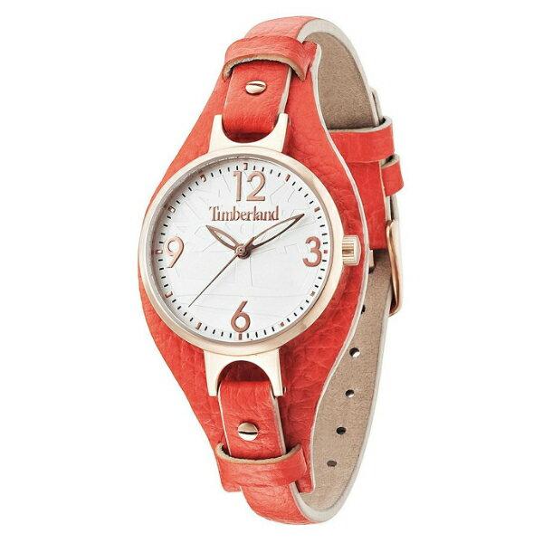 Timberland 天柏嵐 TBL.14203LSR/01鮮紅仕女流行腕錶/白面34mm