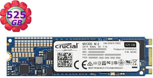 美光MicronCrucialMX300525GBSSD【CT525MX300SSD4】M.2SATA6Gbs固態硬碟