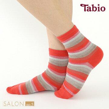 日本靴下屋Tabio  條紋亮紗休閒短襪 - 限時優惠好康折扣