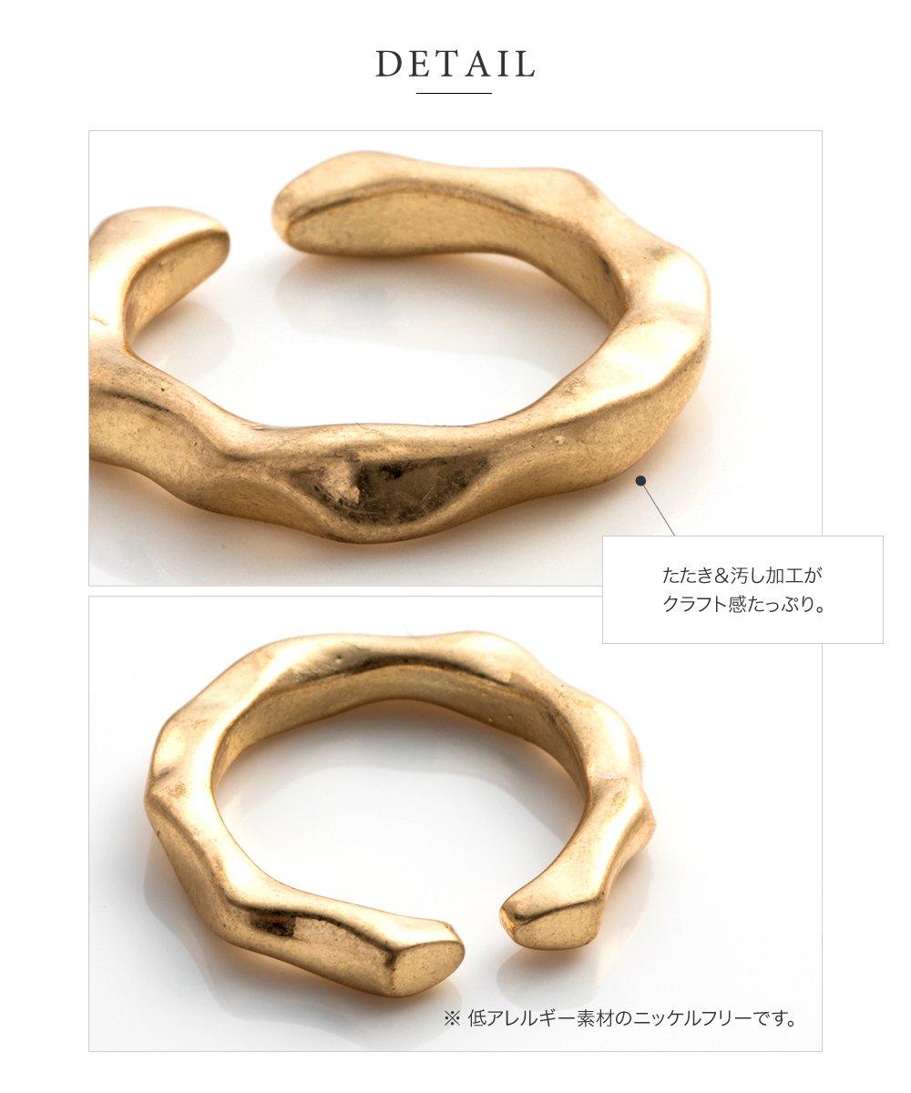 日本CREAM DOT  /  リング 指輪 金属アレルギー ニッケルフリー レディース 12号 ファッションリング クラフト調 メタル たたき加工 大人カジュアル シンプル 可愛い ゴールド シルバー  /  d00080  /  日本必買 日本樂天直送(790) 4