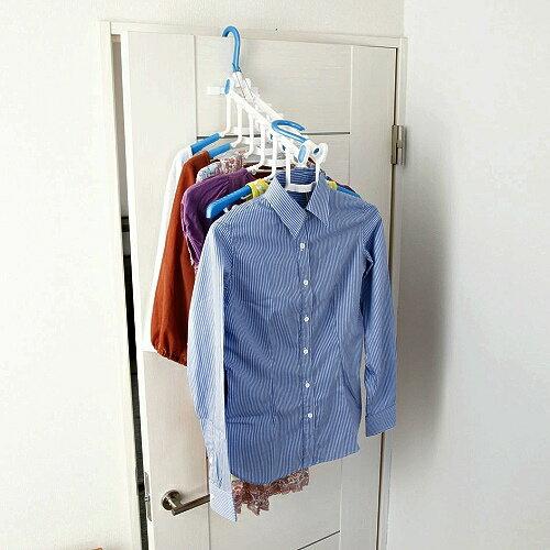 日本AISEN【 室內機能 】多功能6連曬衣架