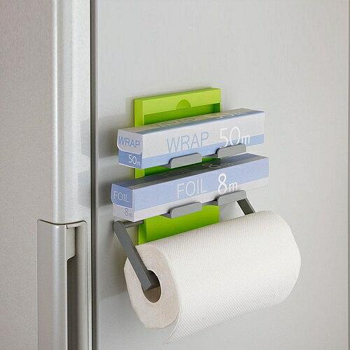 日本Belca磁吸式保鮮膜紙巾架(綠彩)