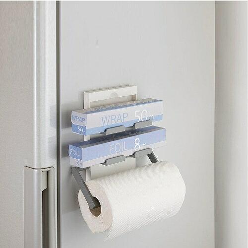日本Belca磁吸式保鮮膜紙巾架(白彩)