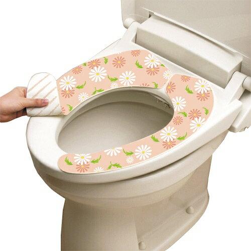 [促銷]日本LEC抗菌防臭馬桶座墊貼(粉紅花卉)