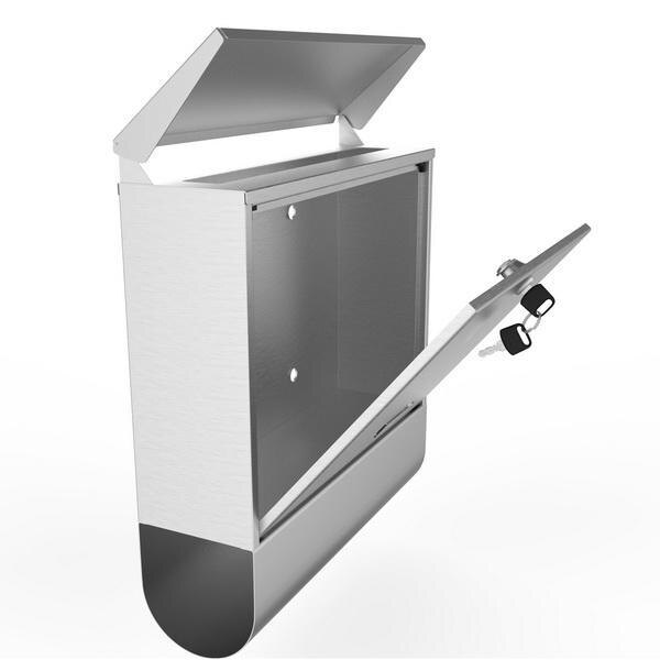 Stainless Steel Mailbox Wall Mount Letterbox Large Size 4