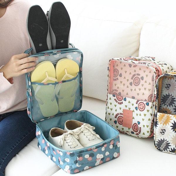 PS Mall 韓版戶外旅行收納鞋袋防水鞋包手提便攜鞋子收納袋整理袋【J1639】