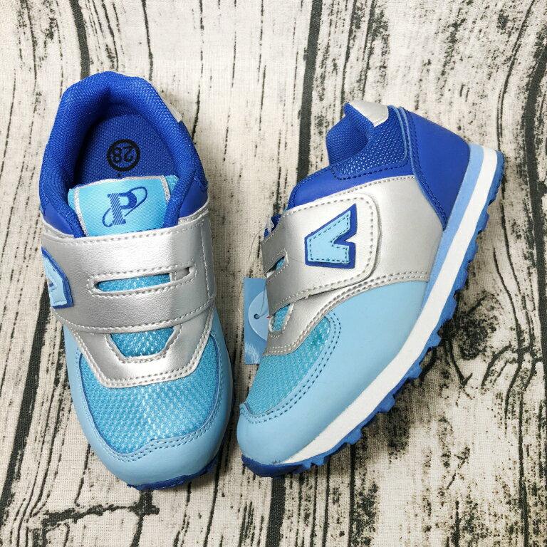 【限量優惠】JIMMY POLO 童款透氣復古運動慢跑鞋 [68048] 藍色 超值價$198