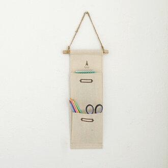 日系棉麻收納掛袋 吊掛式雜物收納袋 zakka雜貨【SV5868】快樂生活網