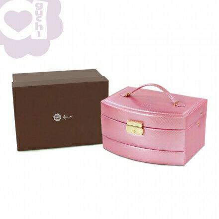【Aguchi 亞古奇】皇家風範-香檳粉 (氣質貴族系列) 珠寶盒 2