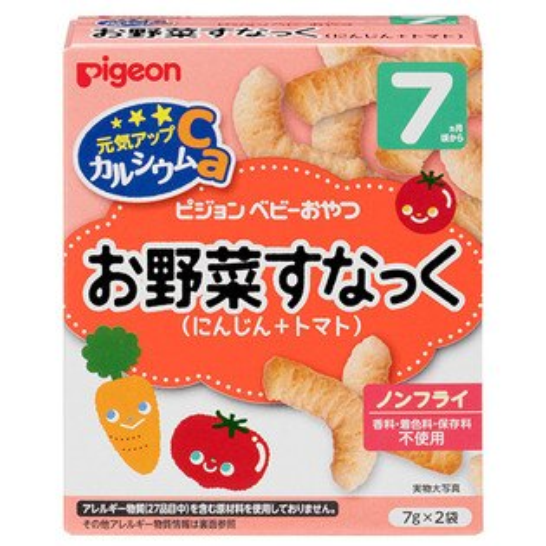 美馨兒*貝親PIGEON-紅蘿蔔番茄點心寶寶餅乾(7個月以上適用)90元