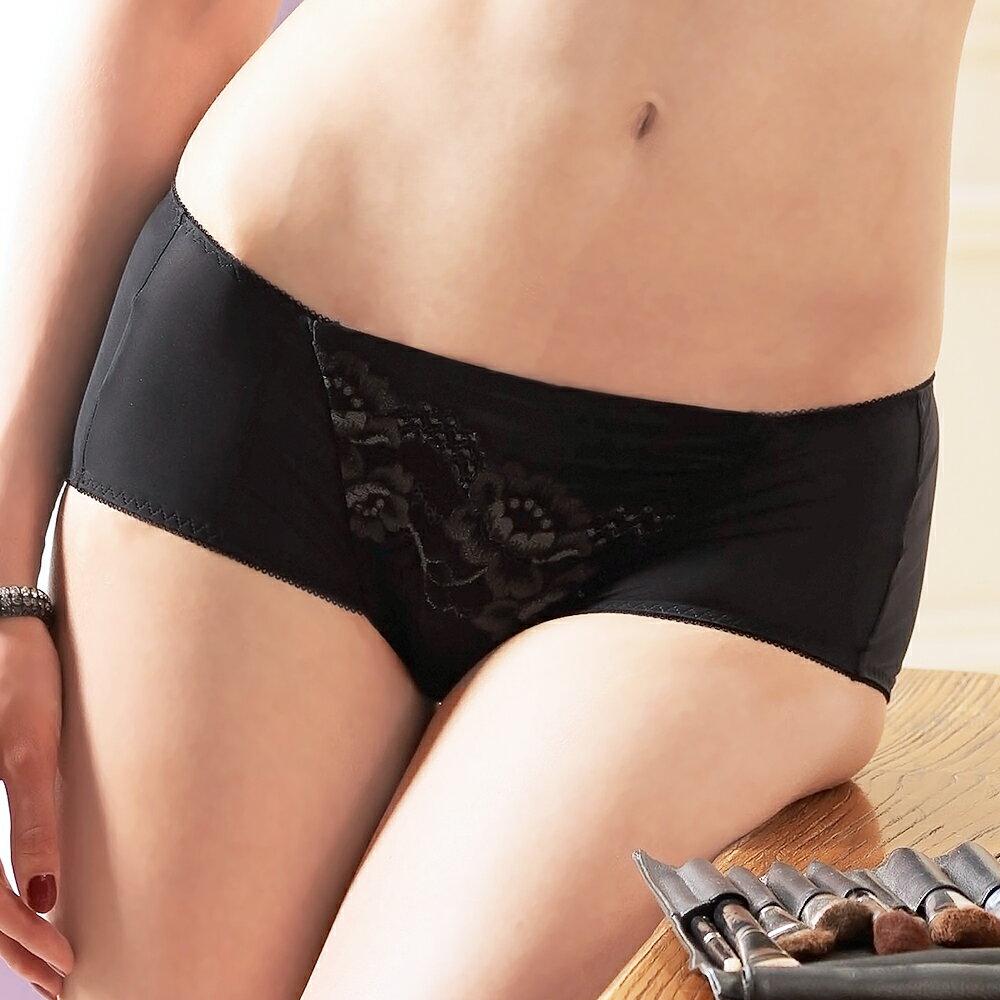 【Favori】美塑3D系列平口褲 (黑)