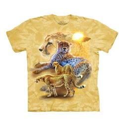 【摩達客】美國進口The Mountain 日落獵豹(預購)純棉環保短袖T恤