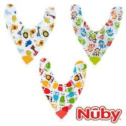 Nuby 3in1口水兜領巾固齒器【德芳保健藥妝】(多種款式隨機出貨)