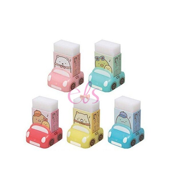 SAN-X 角落生物 香味橡皮擦 附汽車 收納盒 1入 五款  ☆艾莉莎ELS☆