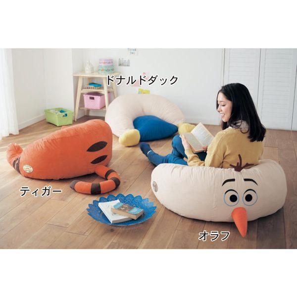 日本製迪士尼限定雪寶跳跳虎小豬奇奇蒂蒂唐老鴨沙發椅子躺椅122123海渡
