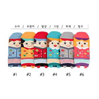 韓國人物造型短襪-多款任選 (SOCK-050-C)