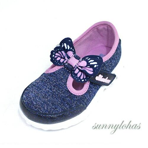 零碼13CM SKECHERS(童) GO WALK 兒童休閒鞋 娃娃鞋 瑪麗珍鞋-81175NNVMT 藍[陽光樂活]