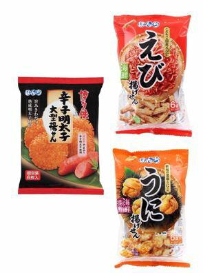 ☆即期良品出清☆ 日本 BONCHI 鮮蝦米果/海膽米果/辛味明太子仙貝(請確認效期再下單喔~)
