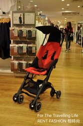 【租時尚】嬰兒車出租 日本口袋型推車 POCKIT3代 新生兒 時尚紅 推車出租!