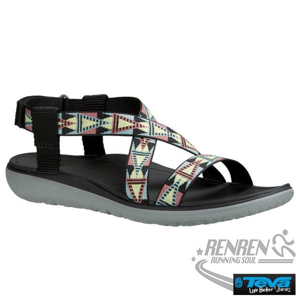 TEVA女運動涼鞋Terra-Float(馬賽克彩色黑)輕盈舒適
