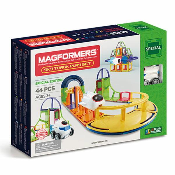 【韓國Magformers磁性建構片】雲霄飛車玩樂組44pcsACT06343
