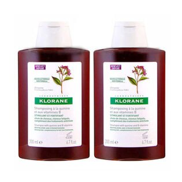 KLORANE蔻蘿蘭養髮洗髮精200ml*2加贈黑人專業護齦抗敏感牙膏120g