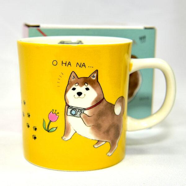 柴犬休日陶瓷馬克杯日本帶回