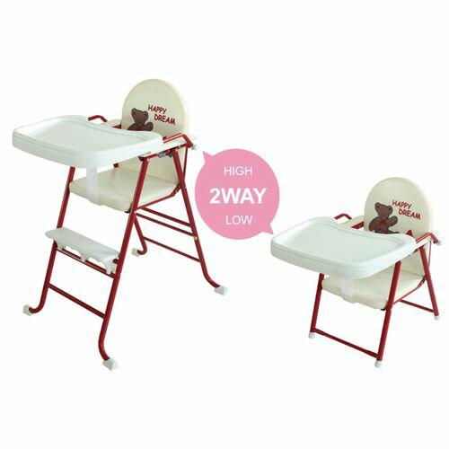 ★衛立兒生活館★L.A. Baby 美國加州貝比 High-Low高低可調兩用嬰兒/兒童餐椅-紅色