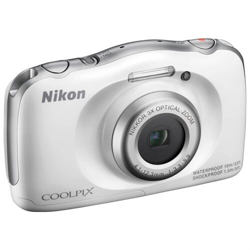 Nikon Coolpix S33 Shock & Waterproof Digital Camera (White) 3
