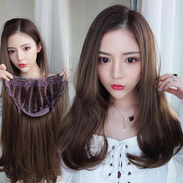 全新設計U型半罩式假髮韓系微卷層次中長髮逼真自然【MW476】☆雙兒網☆
