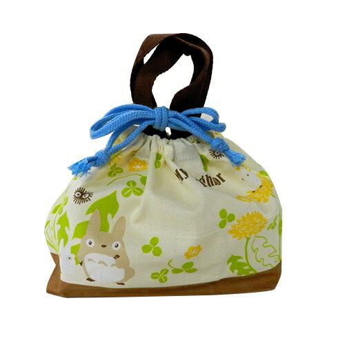 【真愛日本】17030300043日本製束口便當提袋-龍貓向日葵黃 龍貓 TOTORO 豆豆龍 手提袋  便當袋 正品