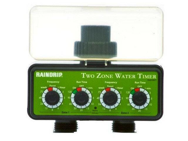 美國Rairdrip自動定時灑水器(可各自設定不同出水時間)加八孔可調滴頭組合