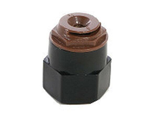 單顆咖啡色微霧噴頭(四分內牙角度180)可噴半徑1M左右10個