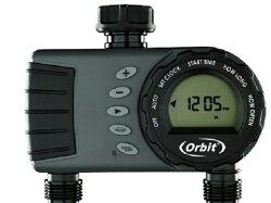 美國ORBIT雙區自動定時灑水器(LCD螢幕一進雙出雙迴路)