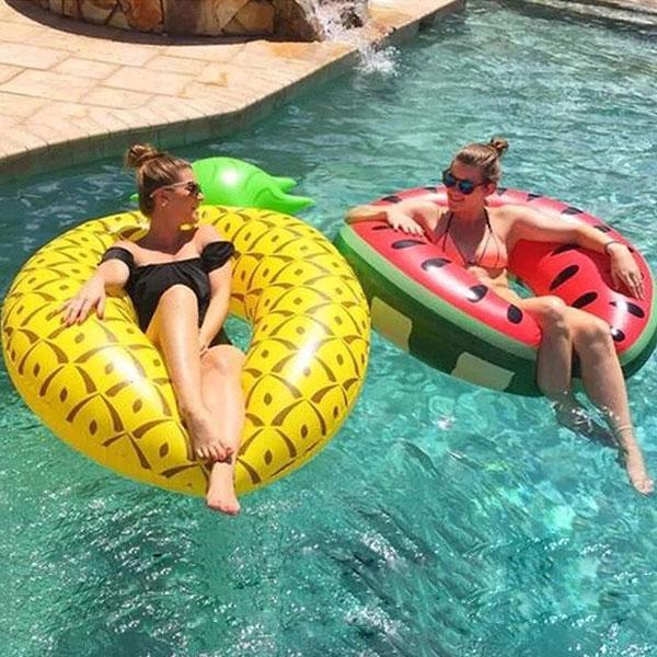 泳圈 西瓜 鳳梨 海邊 遊泳圈 比基尼 泳衣 泳裝 水果 可愛 歐美 ANNA S.