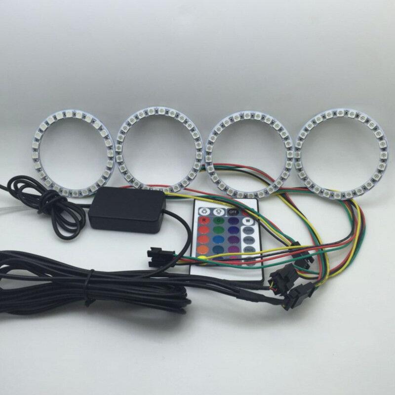 美琪 (超炫改裝) BMW汽車改裝led七彩遙控RGB天使眼光圈惡魔眼音響喇叭光圈