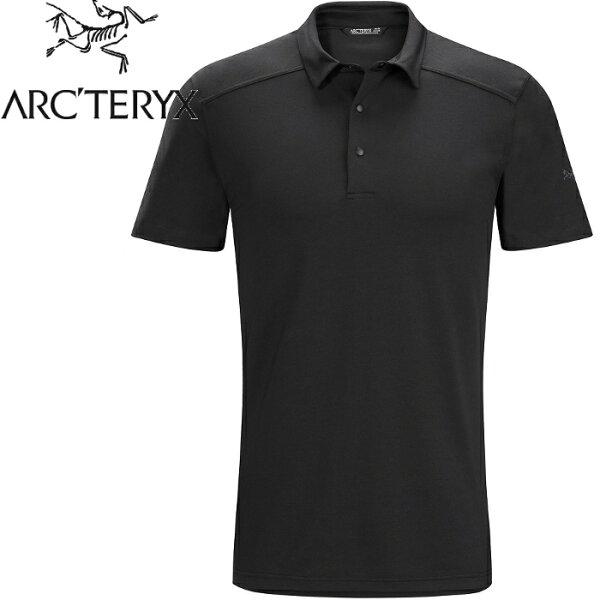 Arcteryx始祖鳥排汗衣休閒上衣短袖Polo衫男款ChilcoPolo17213黑色