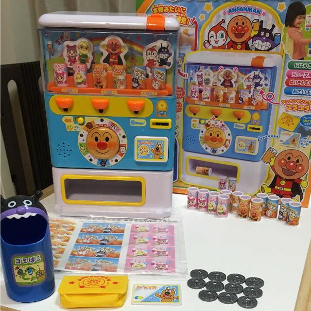 【預購】日本進口日本正版 麵包超人飲料投幣機 自動販賣機 販賣飲料機 豪華版 家家酒玩具 飲料機 便利商店【星野日本玩具】 2